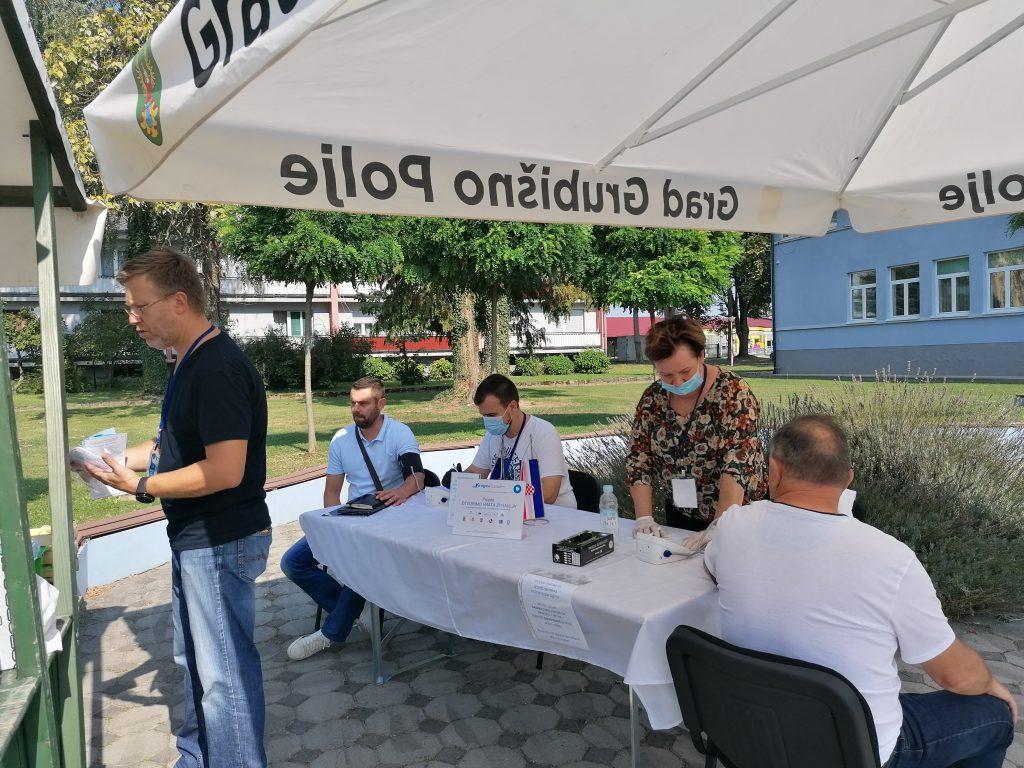 Akcija mjerenja tlaka i šećera u Grubišnom Polju