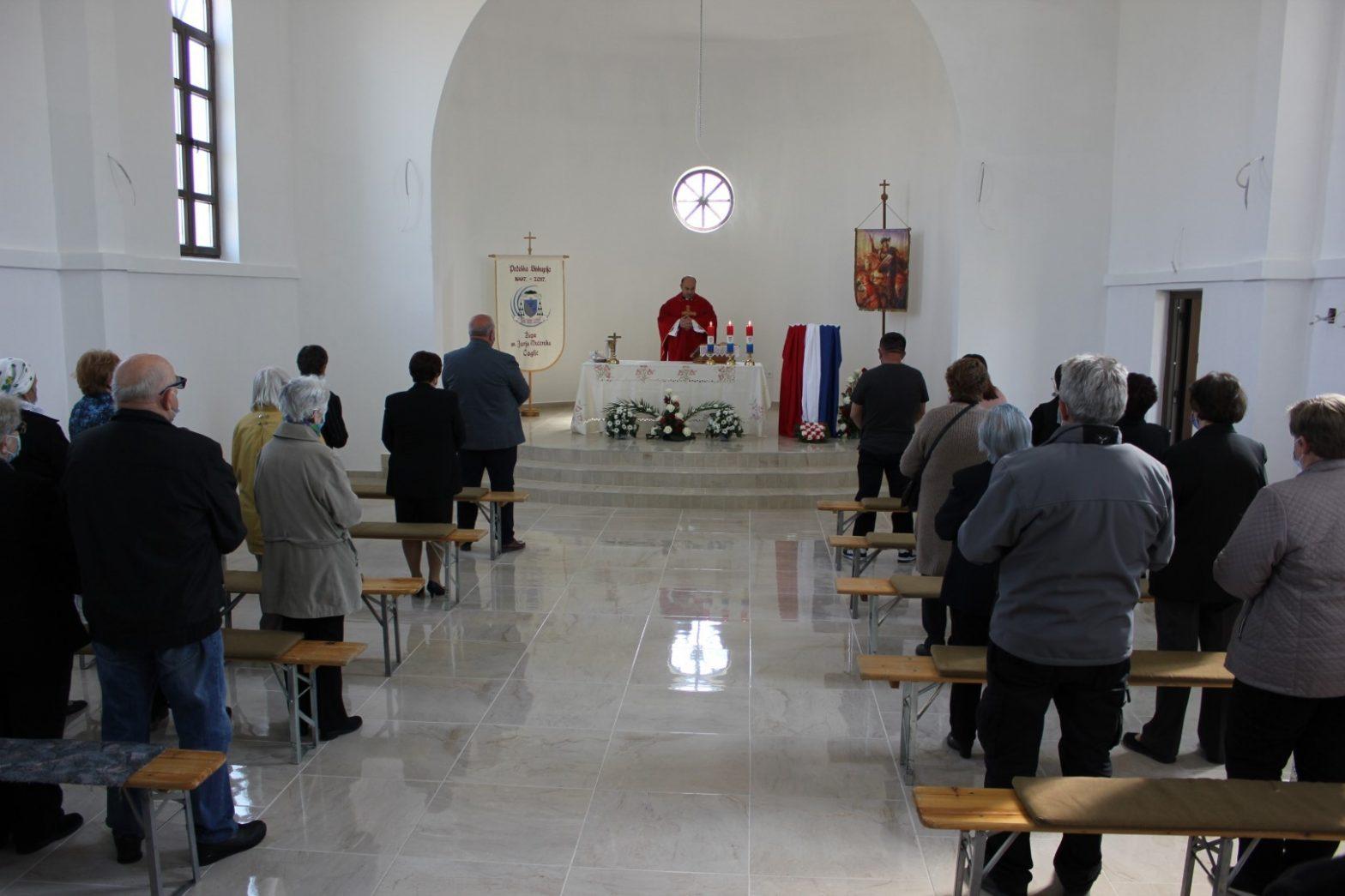 U Donjem Čagliću u novoizgrađenoj crkvi svetom misom proslavljeno Jurjevo.