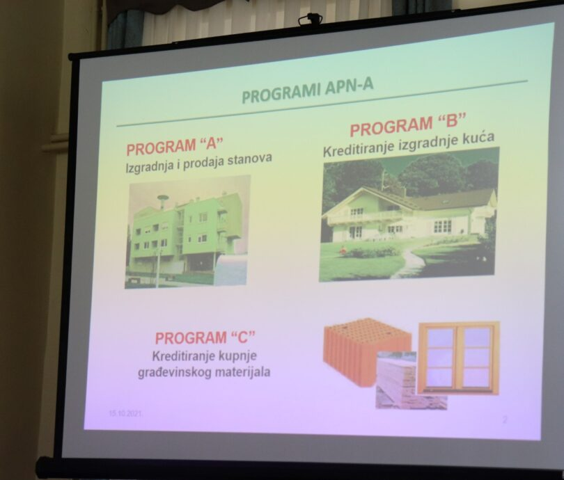 U Lipiku održana prezentacija o stanovima iz Programa društveno poticane stanogradnje