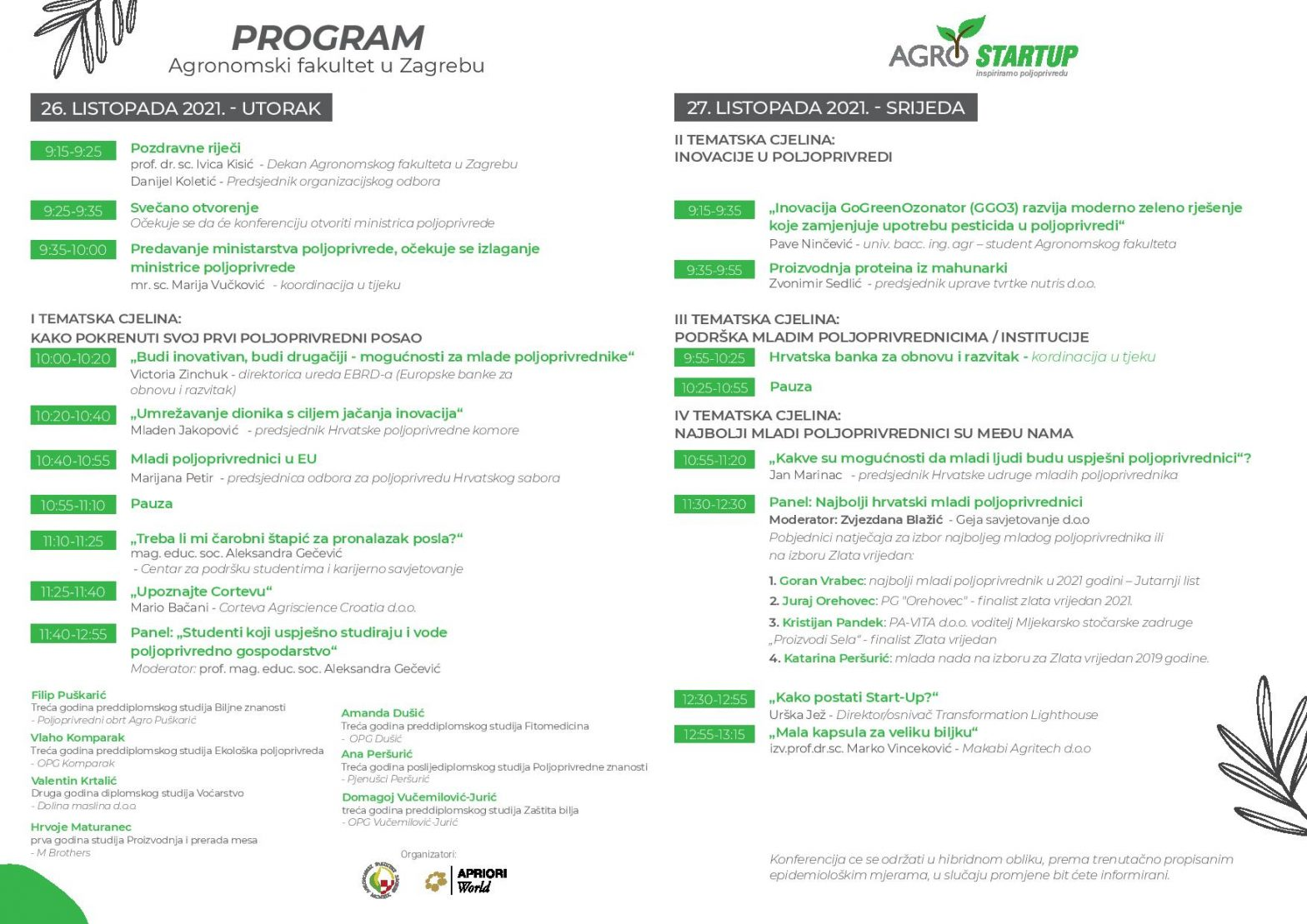 Agro Start-Up konferencija – 26. i 27. listopada u Zagrebu